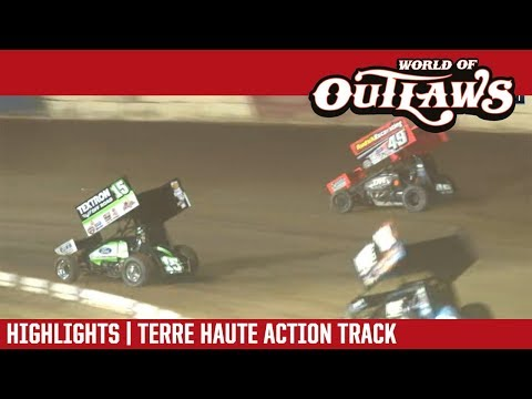 World of Outlaws Craftsman Sprint Cars Terre Haute Action Track October 13, 2018 | HIGHLIGHTS
