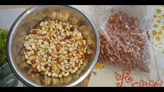 Слабосоленый арахис / Как очистить арахис от шелухи / Как пожарить арахис