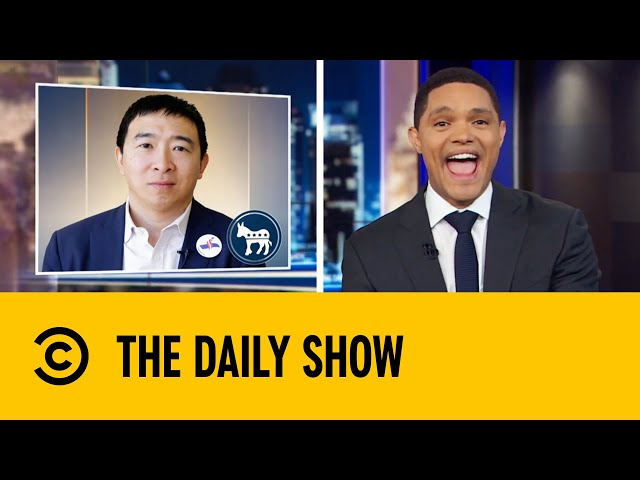 Andrew Yang Delights Supporters With Crowd Surfing Stunt | The Daily Show with Trevor Noah