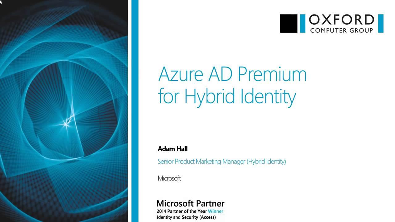 Azure AD Premium for Hybrid Identity | March 2015