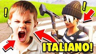 BIMBO ITALIANO TROLLATO, SCLERA E INSULTA!! — Troll su Fortnite ITA