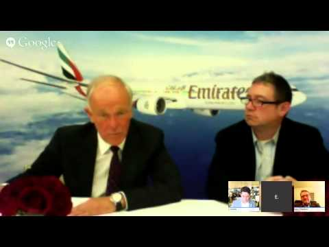 WSJ Google Hangout with Emirates Airline President Tim Clark