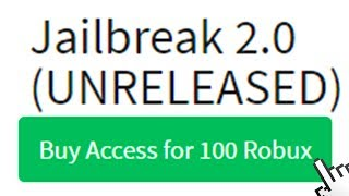 THE UNRELEASED ROBLOX JAILBREAK 2.0!!