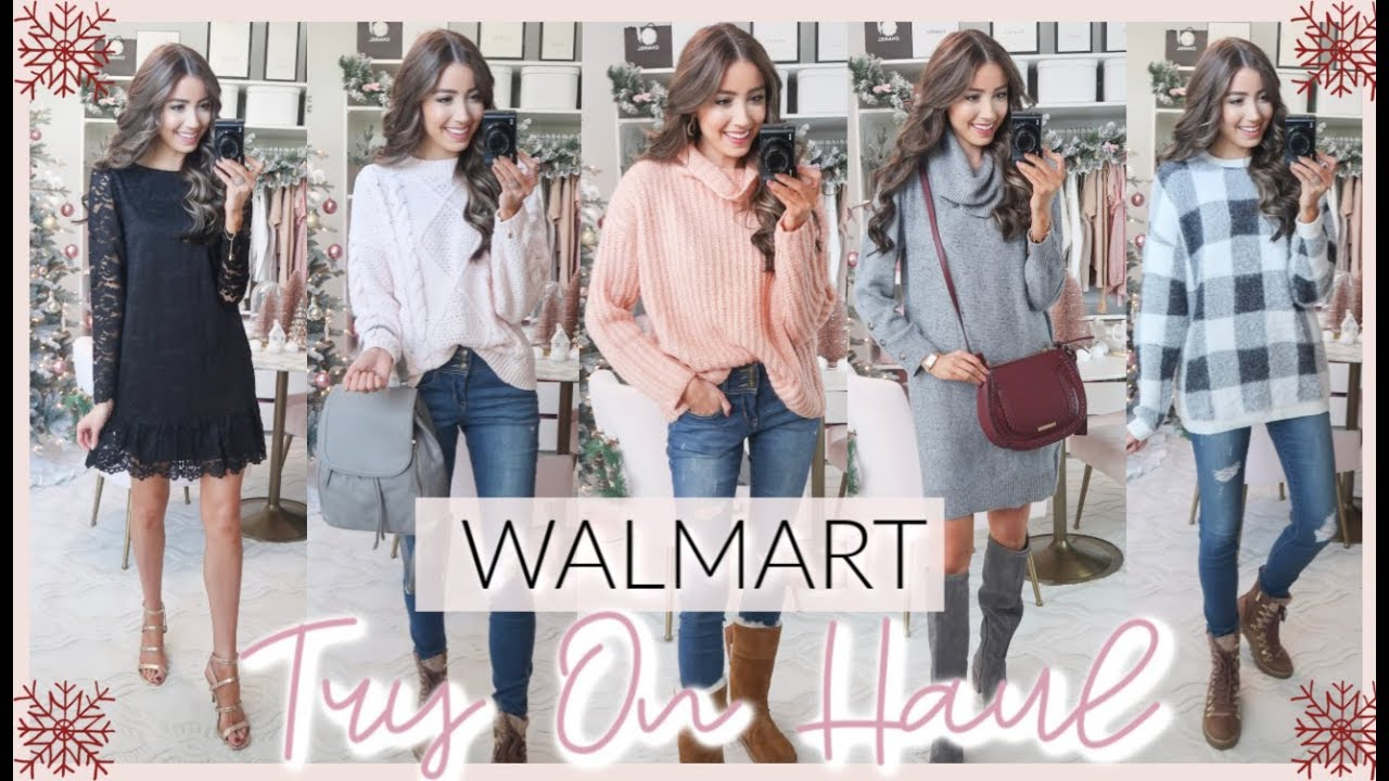 [VIDEO] - HUGE WALMART WINTER TRY ON HAUL 2019 | HOLIDAY OUTFIT IDEAS 1