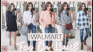 HUGE WALMART WINTER TRY ON HAUL 2019 | HOLIDAY OUTFIT IDEAS
