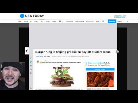 Burger King Exploits Student Loan Debt Proving We Live In Hell