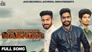 new punjabi songs 2016   warning   jatinder feat kv singh   latest punjabi songs 2016