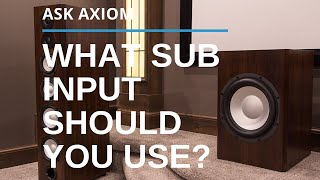 Connecting a Subwoofer: What Input Should You Use?