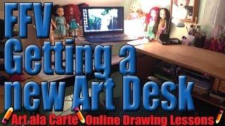 Ffv February Friday Vlogs: New Art Desk!