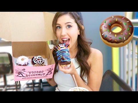 CHOCOLATE VOODOO DOUGHNUTS! Mukbang Eating Show Vlog!