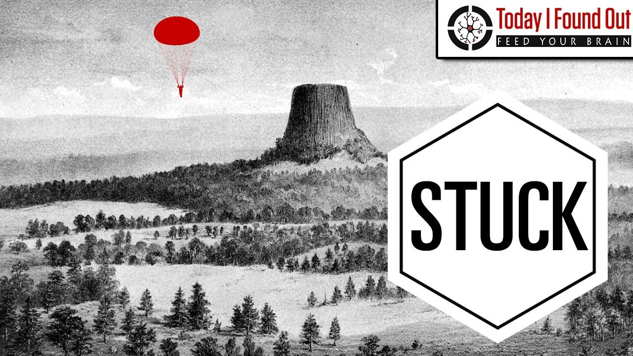 that time a guy parachuted onto devils tower and no one could figure
