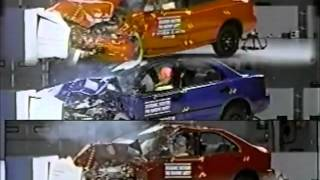 22. Dateline 1997, 1998, 1999, 2000 IIHS Small Cars Offset Crash Test.flv