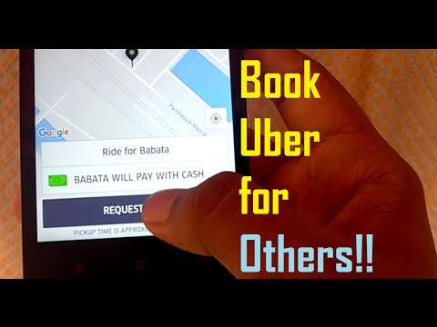 Call an uber for someone else