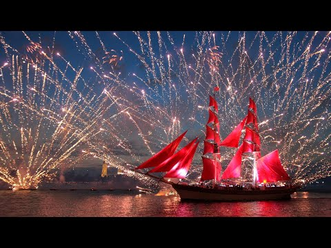 ВОСХИТИТЕЛЬНЫЕ АЛЫЕ ПАРУСА. Шикарная музыка. Scarlet Sails. The Most Beautiful Music. #алыепаруса#