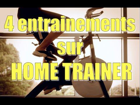4 entraînements sur home-trainer