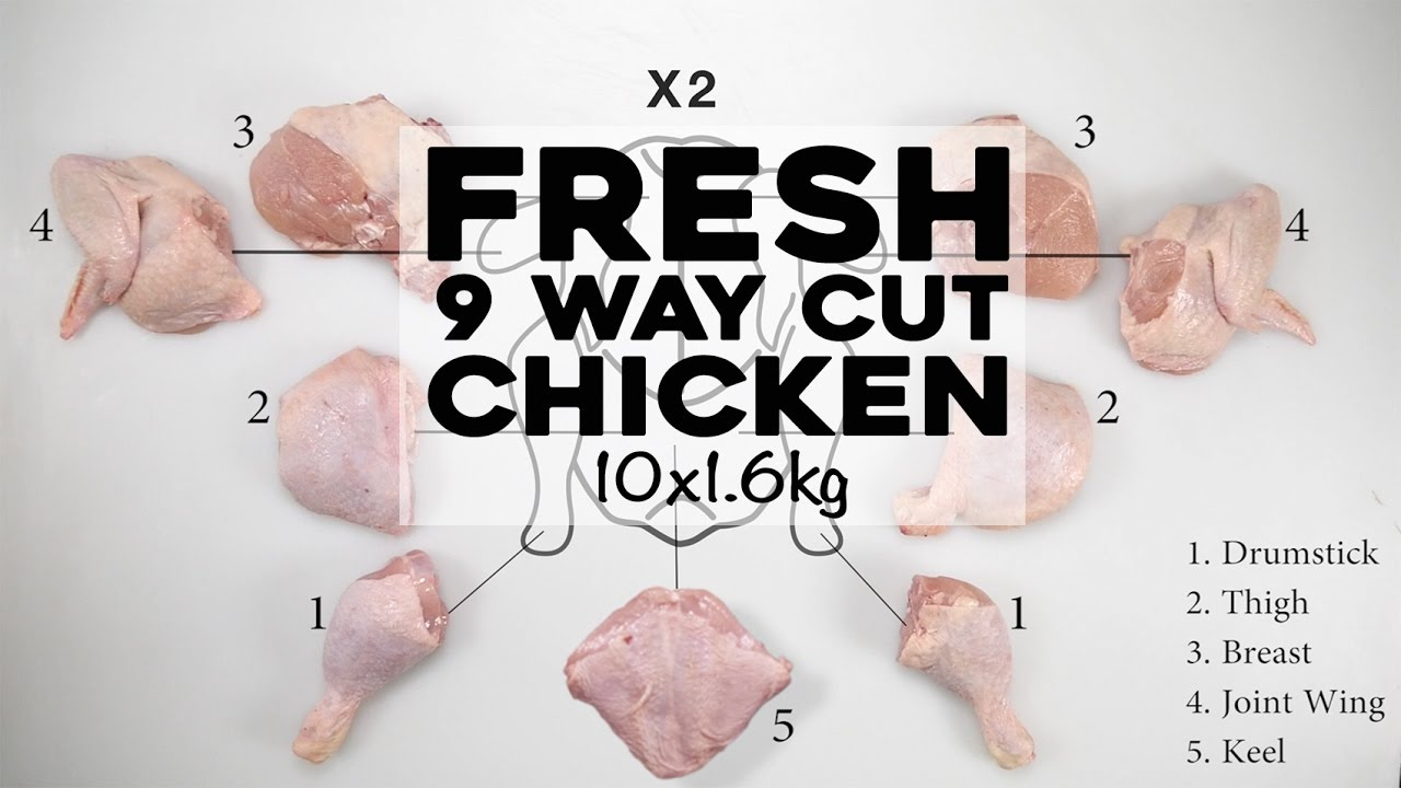 Fresh Halal 9 Way Cut Chicken 10x1 6kg(16kg)