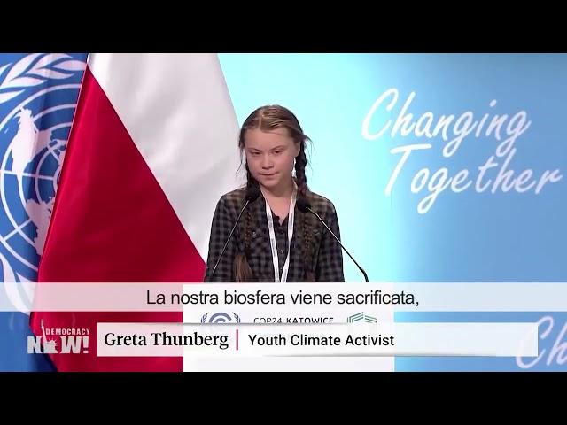 Il discorso di Greta Thunberg per il clima @ COP24 di Katowice, Polonia