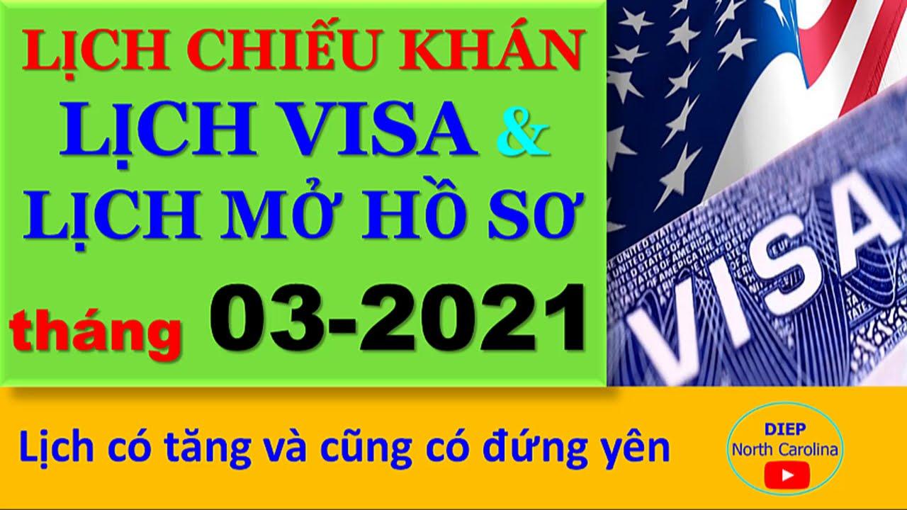 Lịch Visa & Lịch Mở Hồ Sơ tháng 03-2021|| Có lịch tăng và Đứng yên  [Visa Bulletin MAR 2021]