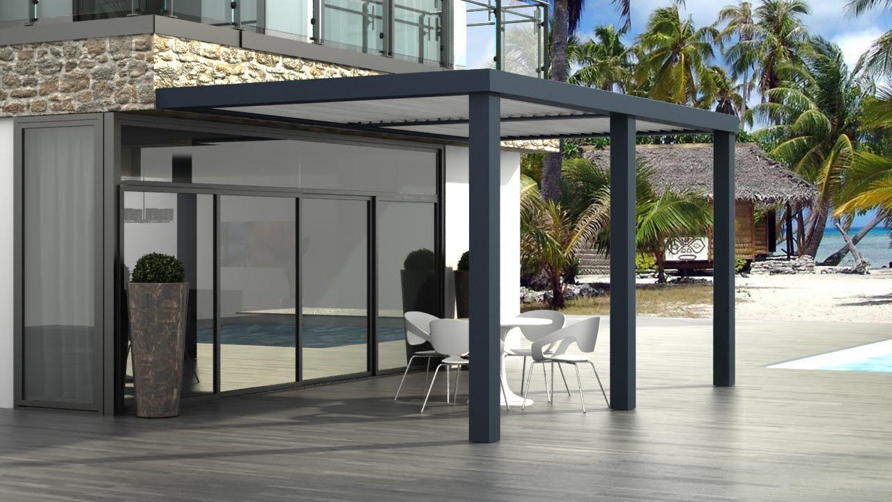Veranda Metal Et Verre pergola bioclimatique sungates : pose et montage