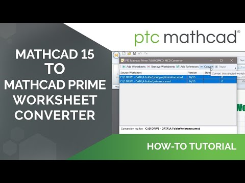 How to Convert Mathcad 15 Worksheets Into Mathcad Prime