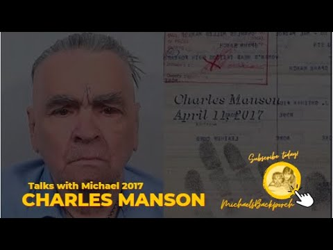Charles Manson Recorded April 12, 2017 (New)