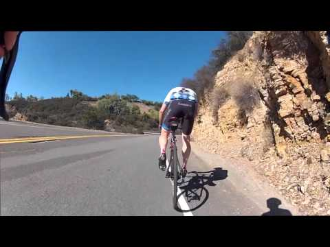 In the Santa Monica Mountains - road cycling