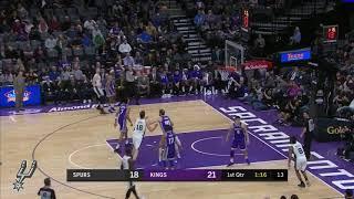 Davis Bertans highlights | Spurs vs Kings (January 8, 2018)
