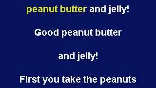 Peanut Butter & Jelly, Karaoke video with lyrics, Instrumental Version