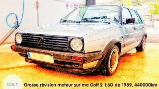 REFECTION MOTEUR VW GOLF 2 1.6D, 1989 440000KM