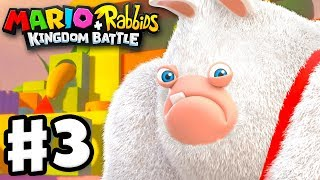 Mario + Rabbids Kingdom Battle - Gameplay Walkthrough Part 3 - Rabbid Kong Boss Fight!