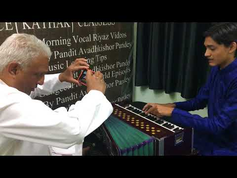 Fast Harmonium Techniques taught to Ranjit Patel - United Kingdom's NRI Online Student