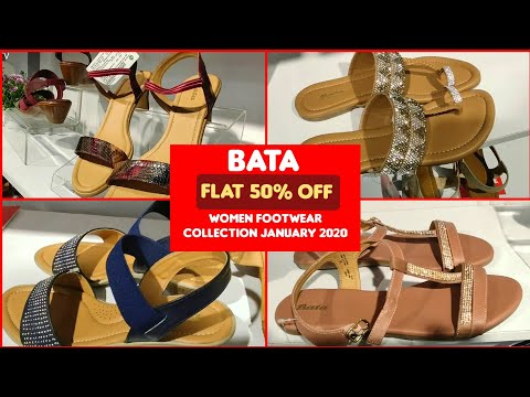 flat-50%-off-sale-|-bata-women-footwear-collection-january-2020-|sandals•chappals•flats•etc-#laikras