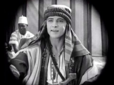THE SHEIK (Silent 1921) Rudolph Valentino - Ruth Miller - Adolphe Menjou