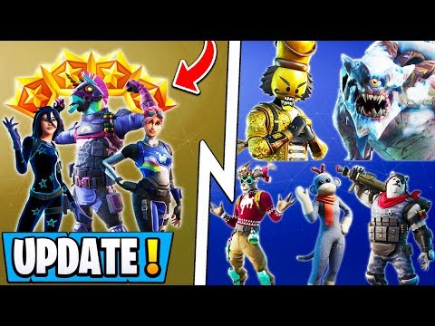 *NEW* Fortnite 11.30 Update! | 2020 Annual Pass, 10 Free Christmas Items, All Skins!