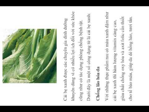 Cải bẹ xanh chữa bệnh gout