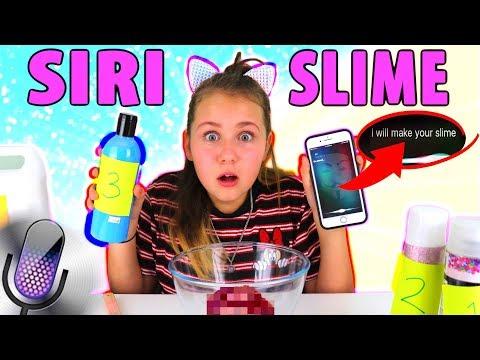 SIRI Picks My Slime Ingredients Challenge!!!!