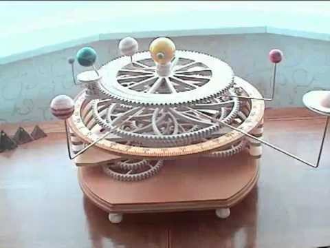 scale model of solar system,Wooden Orrery - YouTube
