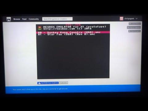 Nesbox - How to play NES, SNES, Genesis, GBA ROMS on Xbox One