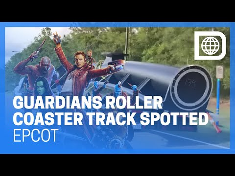 Guardians of the Galaxy Roller Coaster Track En Route to Epcot