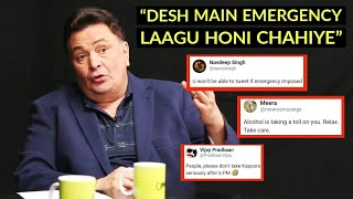 Rishi Kapoor INSULTED And Trolled For His EMERGENCY Lockdown Remark In India