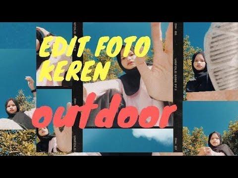 Tutorial Edit Foto Outdoor Viral Polaroid Frame Youtube