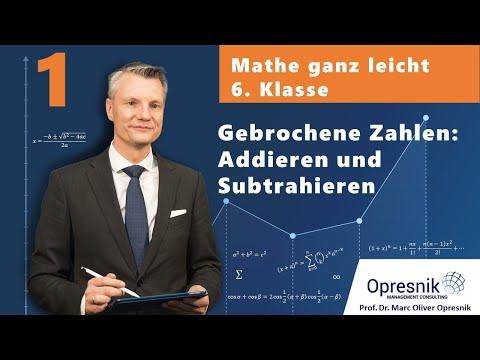 mathematik-klasse-6-homeschooling-1:-gebrochene-zahlen---addieren-&-subtrahieren