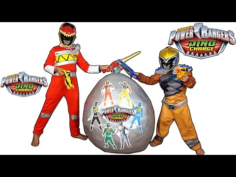 Power Rangers Dino Charge Silver Giant Toys Surprise Egg