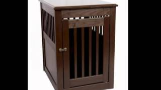 Dynamic Accents 42166 Large Mahogany End Table Pet Crate