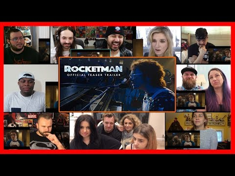 Rocketman 2019 - Official Trailer - Paramount Pictures REACTIONS MASHUP