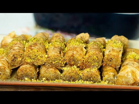 pistachio-baklava-rolls:-greek-saragli