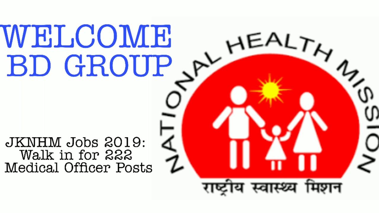 JKNHM Jobs 2019: Walk in for 222 Medical Officer Posts