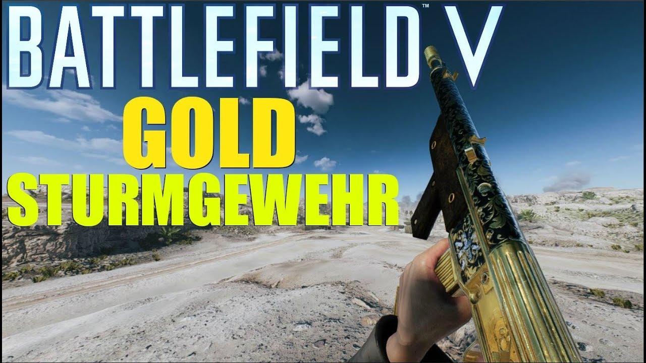 BFV - Golden Sturmgewehr 1-5 Gameplay!