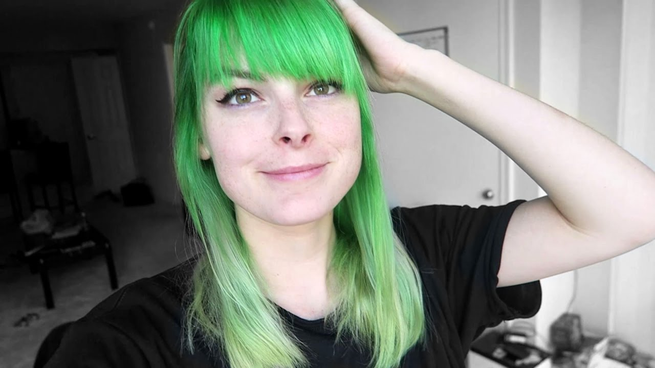 Dyeing My Hair Green And Silver Ombre Using Special Effects Iguana