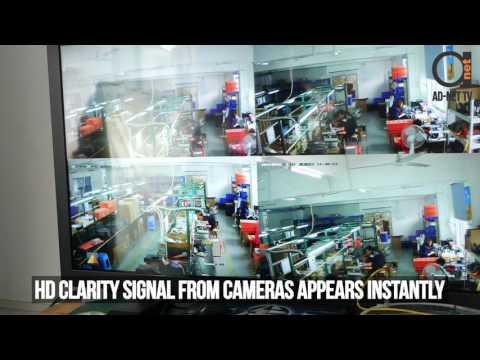 8 port Video AHD TVI CVI universal support over fiber optical transmitter set testing